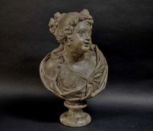 Antiquités - 18th century Terracotta nymph bust