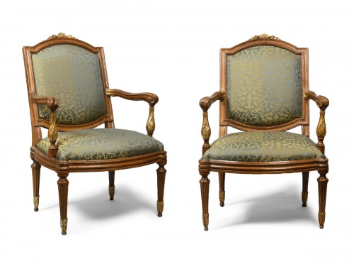 Genoese pair of armchairs