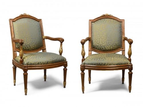 Genoese pair of armchairs