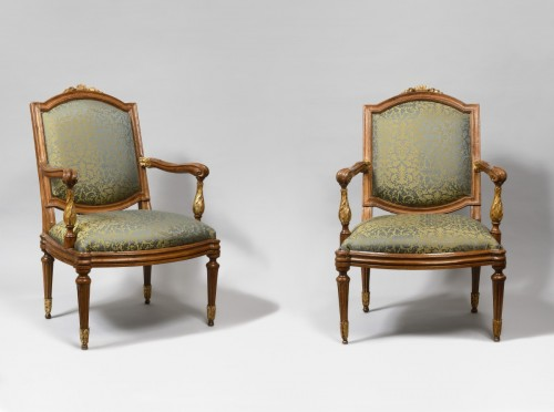 Genoese pair of armchairs - Seating Style Louis XVI