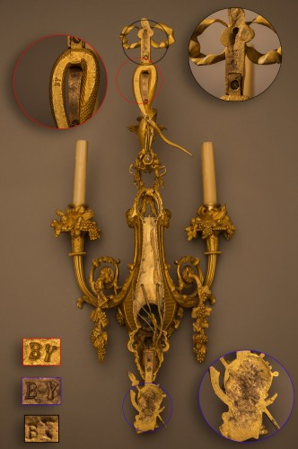 Napoléon III - Alfred Beurdeley  Pair of wall lights