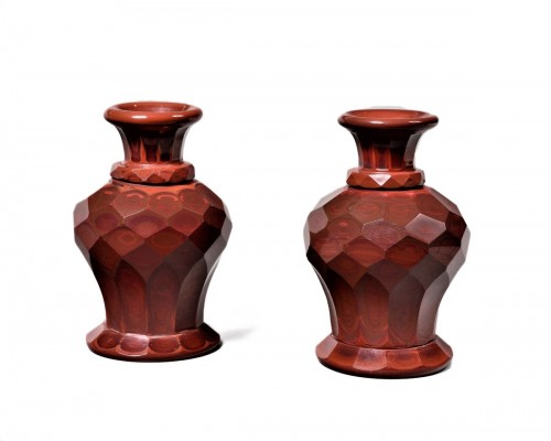 Friedrich Egermann - lithyalin pair of vases