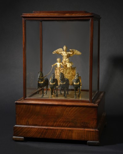 Maquette d'un quadrige, Epoque empire