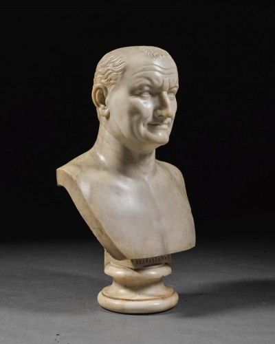Marble bust of Emperor Vespasian - Sculpture Style Directoire