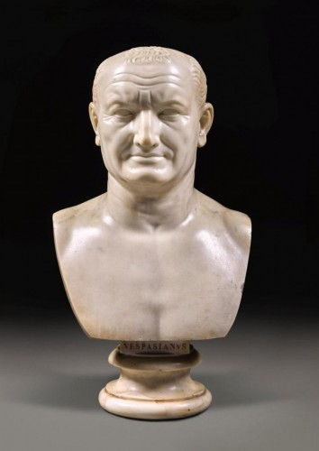 Sculpture  - Marble bust of Emperor Vespasian