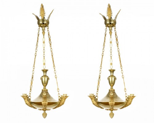 Pair of Empire chandelier