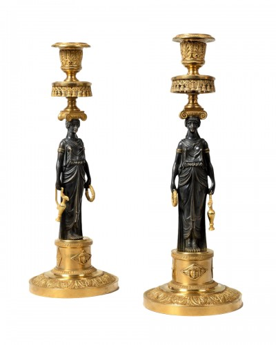 Pair of Empire candlesticks