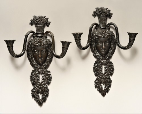 Pair of restauration wall lights - Lighting Style Restauration - Charles X
