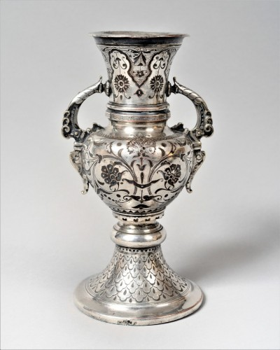 silvered vase - Christofle & cie - Decorative Objects Style Napoléon III