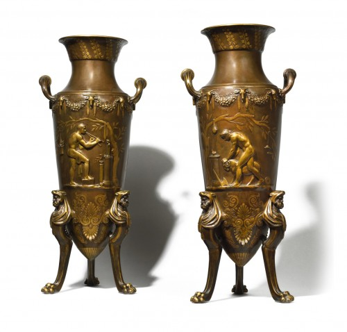 Pair of greek amphoras vases
