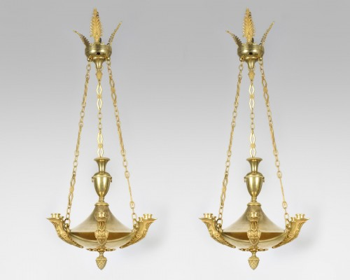 Pair of chandeliers - Lighting Style Empire