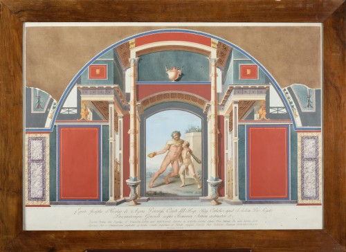 Angello Campanella , after Mengs et Maron - , 8 engravings handcoloured