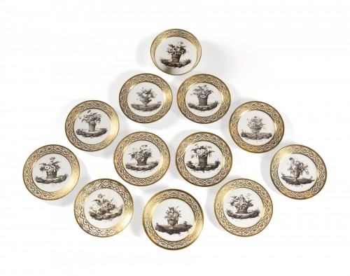 Dessert service in hard porcelain by J.B LOCRÉ late 18th century