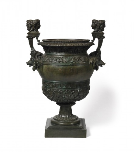 After Claude Ballin model, bronze vase.