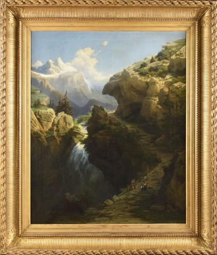 Alexis Dalige de fontenay (Paris 1813-1892), Meyringhen path at Goutan