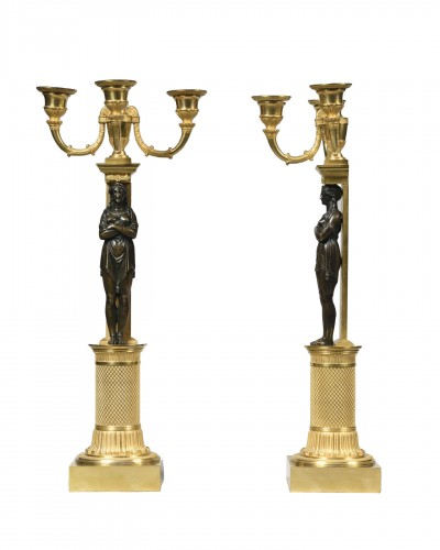 Attributed to Thomire Duterne &Cie, pair of candelabra