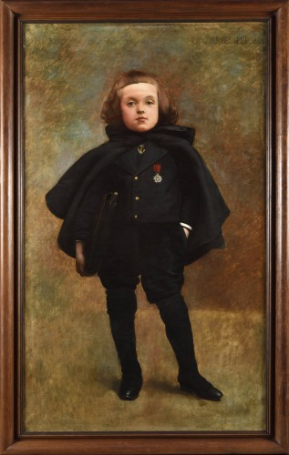 Portrait of a young boy - Henri Raoul Bessède  (?- 1890)