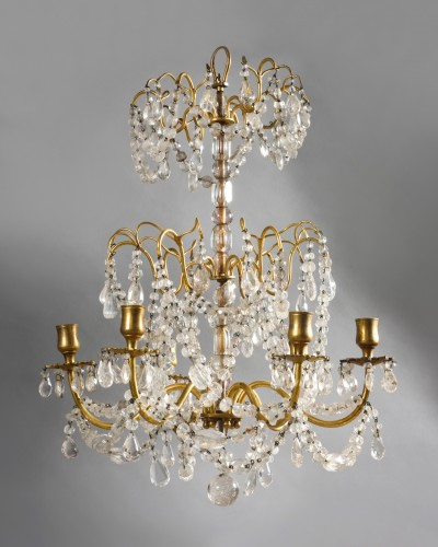 Ormolu and rock crystal chandelier