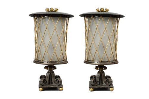Gilbert Poillerat - Iron table lamps