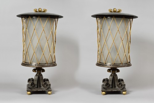 Gilbert Poillerat - Iron table lamps - Lighting Style Art Déco