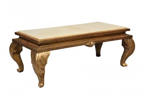 Gilt wood coffee table - Maison Jansen