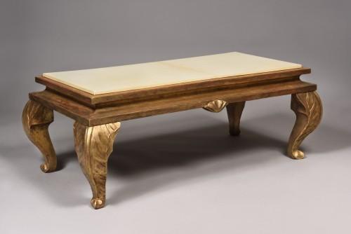 Gilt wood coffee table - Maison Jansen - Furniture Style 50