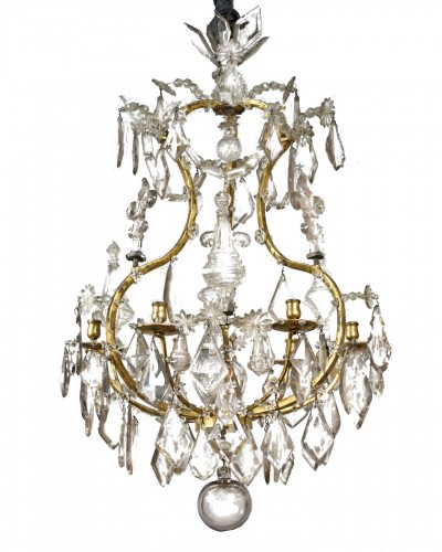 Ormolu and cut crystal chandelier, 18th century