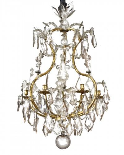 Ormolu and cut crystal chandelier, 18th century