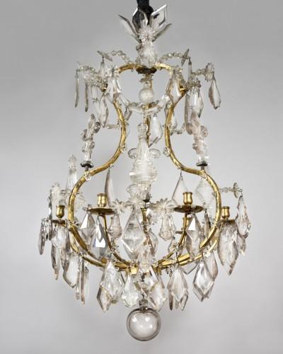 Ormolu and cut crystal chandelier, 18th century - Lighting Style