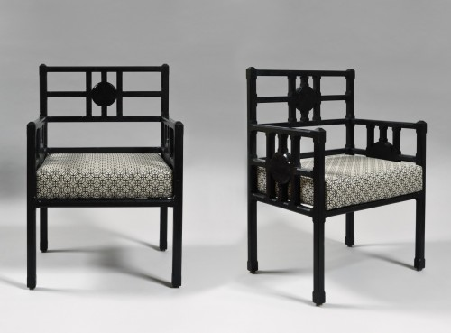 Pair of Art and Craft armchairs - Seating Style