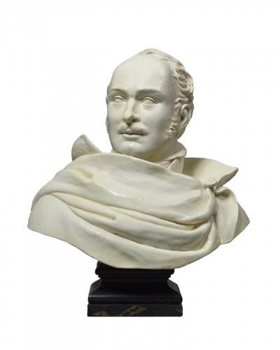 Eugène de Beauharnais, faience bust
