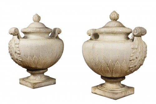 Emile MullerA pair of enamelled stoneware vases and covers, circa 1880