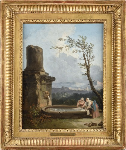The Washerwomen attributed to Hubert Robert