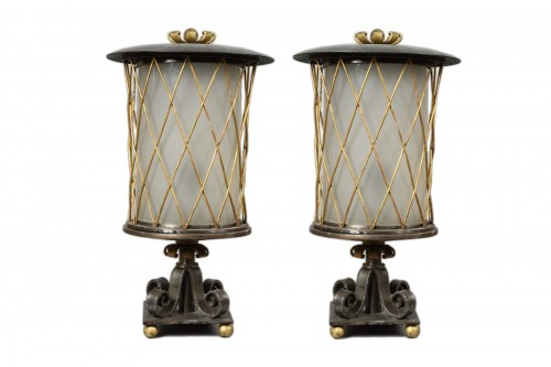 Gilbert Poillerat (1902-1988) - Wrought Iron Lamps