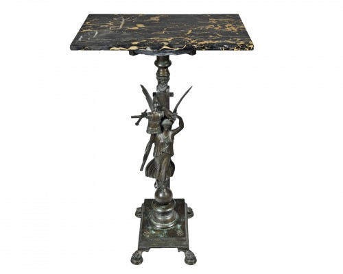 Bronze Pedestal Table