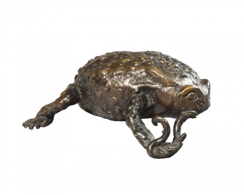 Patinated bronze toad - Northen Italy - 16th/17th century