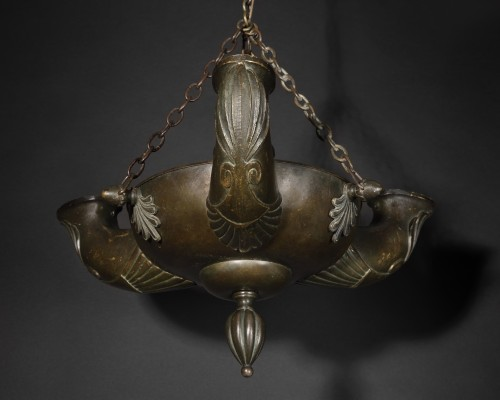 Antique bronze ceiling light - 19th century - Lighting Style