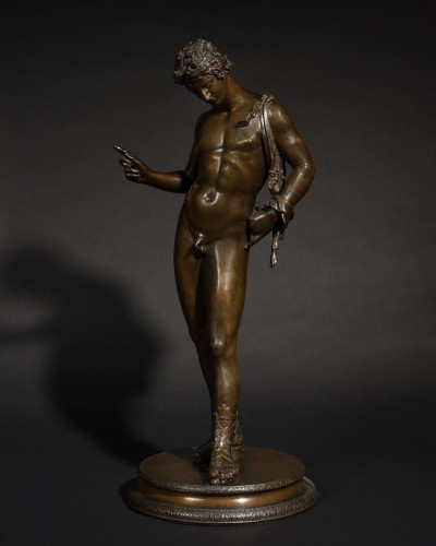 A patinated bronze Narcissus - Italy 19th century  - Sculpture Style