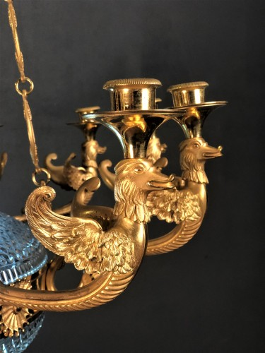 19th century - Chandelier in cut crystal and gilt bronze St Petersburg circa 1820