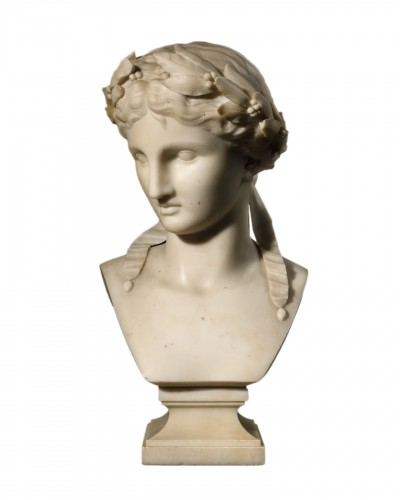 Bust of Fame - marble early 19th century