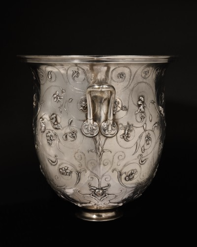The Hildesheim treasure crater galvanic silver plated copper Christofle - Decorative Objects Style Napoléon III