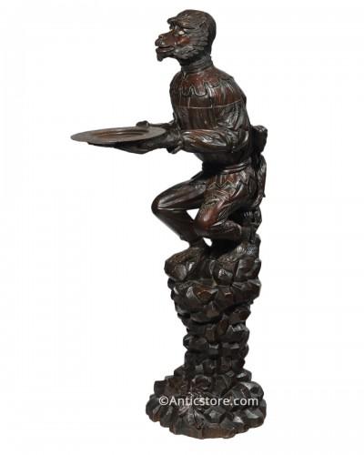 Monkey Dumbwaiter patinated wood - Venice 19th century