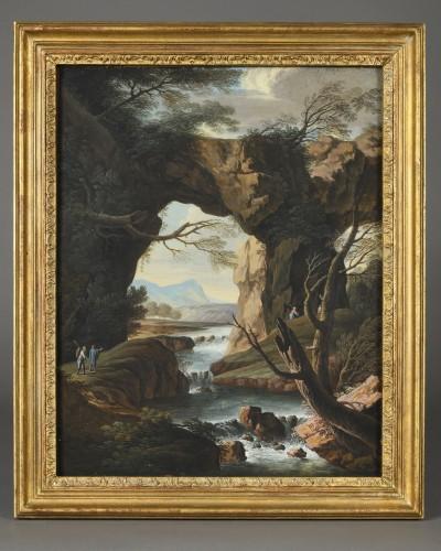 Charles-Louis Clérisseau (1721-1820)  – Views of Tivoli - Paintings & Drawings Style