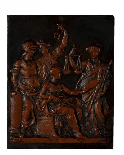 Wax bas-relief representing the four cardinal virtues - 18th century