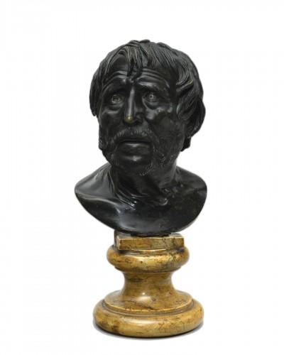 Pseudo-Seneca in bronze - second half of the 19th century