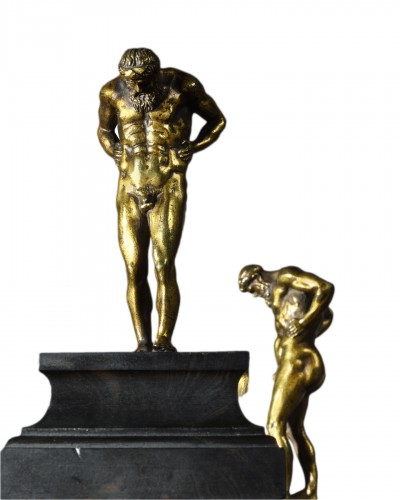 Pair of statuettes depicting two Atlas - 16th/17th centuries