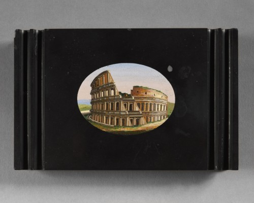 Micromosaic representing the Colosseum - 19th century  - Objects of Vertu Style