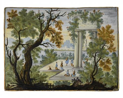 Majolica plate -  Castelli 18th century