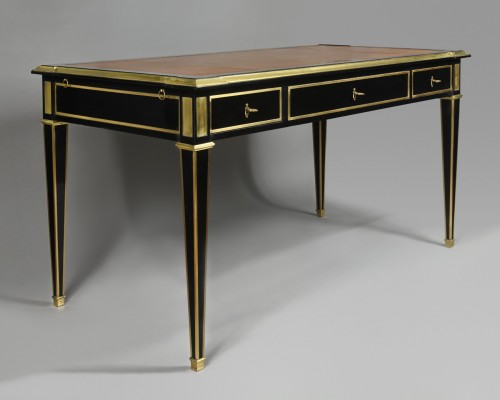 Desk in lacquered wood circa 1960 - Attributed to the Maison Jansen - Furniture Style