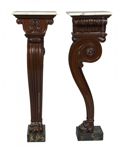 Pair of 19th century mahogany pedestal  - Attributed to Thomas Hope